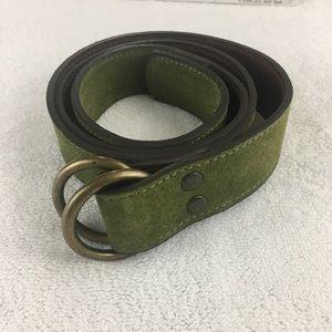 J.Crew Green Suede Belt/ Genuine Leather S/M